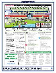 Bourbon Street New Orleans Map by 2013 French Quarter Festival Map Wwno