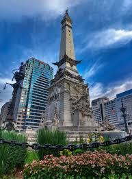 Indianapolis Circle Of Lights Indiana Soldiers And Sailors Monument Aka Monument Circle