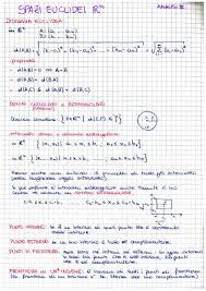 dispense analisi 1 2 appunti spazi euclidei