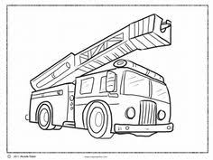 free printable fire truck coloring pages kids winter