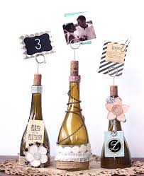 wine bottle wedding centerpieces diy cut wine bottle table number centerpiece