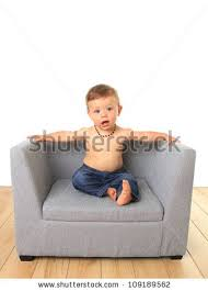 Baby Sofa Chair by Adorable Ten Month Old Baby Boy On A Sofa Chair Stock Photo