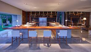 kitchen island breakfast bar casa la punta in punta mita mexico