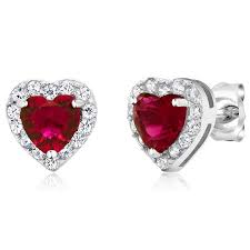 womens earrings 2 32 ct heart shape zirconia 925 sterling silver women s