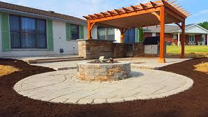 pergola outdoor kitchen outdoor kitchen firepit and pergola twentytree central pa