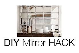 Beveled Mirror Diy Beveled Mirror Pottery Barn Mirror Hack Youtube