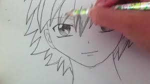 drawing a basic manga boy youtube