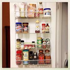 Best Spice Rack With Spices Over The Cabinet Door Basket Best Door Storage Ideas On Pinterest