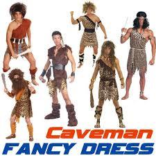 Safari Halloween Costume Caveman Stoneage Flintstones Jungle Cave Man Fancy Dress Costume