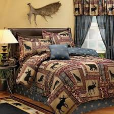Wolf Bed Sets Moose Wolf Cabin Comforter Set 3