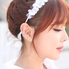 korean earings korean 925 sterling silver small flower ear stud earrings at