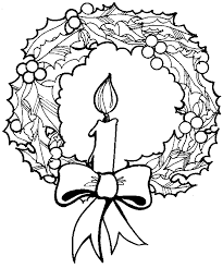 coloring christmas candle coloring