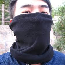 multifunction outdoor polar fleece thermal scarf muffler