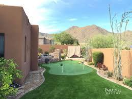Putting Green In Backyard by Custom Putting Green Company In Scottsdale Arizona
