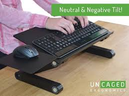 office desk with adjustable keyboard tray uncaged ergonomics workez keyboard tray and mouse pad black