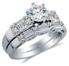 white stones rings images 14k white gold cubic zirconia engagement ring with matching jpg