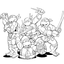 ninja turtle coloring marvellous brmcdigitaldownloads