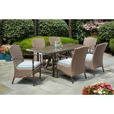 outdoor glass and rattan dining set patio furniture clearance with