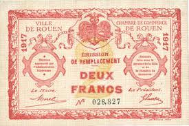 chambre du commerce rouen banknotes emergency notes rouen 76 ville et chambre de