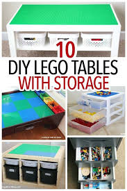playroom table with storage how to make a table with storage 10 easy solutions