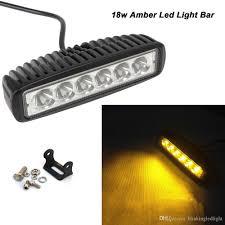 Waterproof Led Light Bar 12v by 6 Inch 18w Amber Led Fog Light 12v 24v 3w Led Work Light Bar