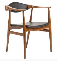 Modern Danish Furniture by Aline Leather Danish Mid Century Dining Arm Chair Danish Chairs