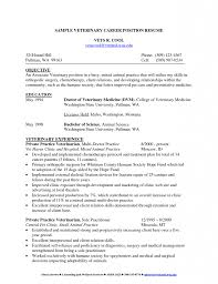 Resume Cv Examples by Veterinarian Resume Sample Tableau Architecture Covenant Security