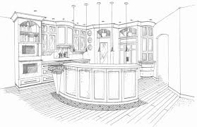 Kitchen Design Drawings Kitchen Design Kitchen Line Drawing Interior Design Sketches