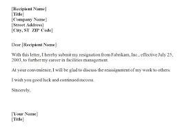 example of letters of resignation download resignation letter
