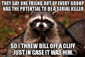 Raccoon Meme - evil plotting raccoon meme imgflip