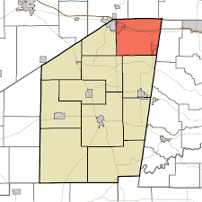 Time Zone Map Indiana by Adams Township Ripley County Indiana Wikipedia