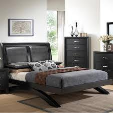 Upholstered Platform Bed King Crown Beds Galinda B4380 King Upholstered Platform Bed King