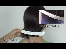 how to cut angled bob haircut myself how to cut a bob haircut and side bangs at home shoulder length
