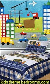 construction bedrooms decorating construction trucks theme