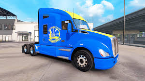 golden trucks skin golden state warriors on tractor kenworth for american truck