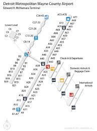 detroit metro airport map map airport terminal airport information and car