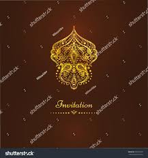 luxury vintage vector card invitation beautiful stock vector