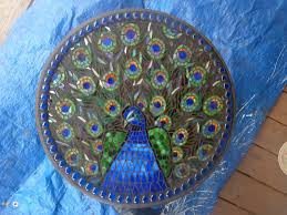 Mosaic Table L Peacock Mosaic Table Oh My Gosh How Cool Would This Be