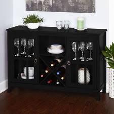 Black Modern Sideboard Contemporary Buffet Ebay