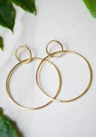circle earrings jules smith 14k plated circle hoop earrings
