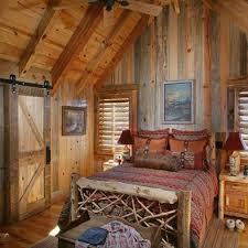 looking log cabin bedroom decorating cozy cabin