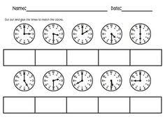 15 best images of telling time cut and paste worksheets cut and