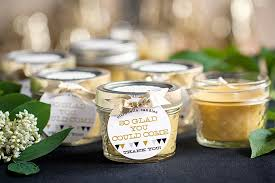 personalized candle favors green wedding candle favors simple decoration ideas classic