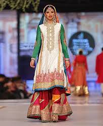pakistani bridal dresses bright colors and great designs