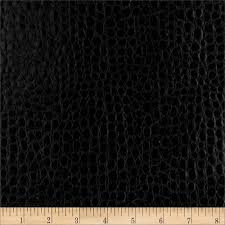 Buy Leather Upholstery Fabric Faux Leather Crocodile Black Discount Designer Fabric Fabric Com
