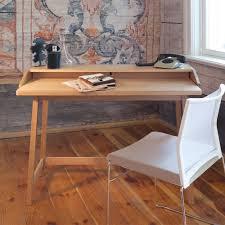 Schreibtisch Mit Aufsatz Pc Schreibtisch Iletiona Mit Eiche Furniert Mit Aufsatz