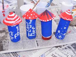 preschool crafts for kids 4th of july toilet paper roll rocket craft