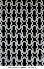 brick fence with decorative concrete blocks florida style
