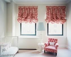White Balloon Curtains Pastoral Style Adjustable Balloon Curtain Living Room Shade White