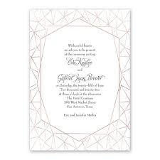 clean lines foil invitation invitations by dawn